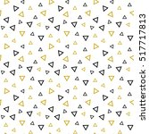 geometric memphis pattern with... | Shutterstock .eps vector #517717813