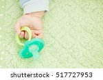 baby's cute little hand and...   Shutterstock . vector #517727953