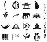 sri lanka travel icons set....   Shutterstock .eps vector #517729387