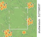 greeting card floral pattern | Shutterstock . vector #517738537