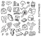 set of business doodle | Shutterstock .eps vector #517744633