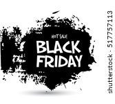 black friday sale handmade... | Shutterstock .eps vector #517757113
