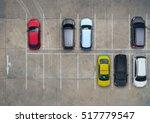 empty parking lots  aerial view. | Shutterstock . vector #517779547