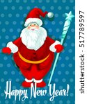 happy new year greeting.... | Shutterstock .eps vector #517789597