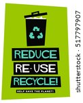 reduce reuse recycle  flat... | Shutterstock .eps vector #517797907