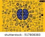 brain of success modern... | Shutterstock .eps vector #517808383