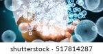 businessman on blurred... | Shutterstock . vector #517814287