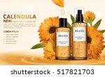 calendula skin toner ads  3d... | Shutterstock .eps vector #517821703