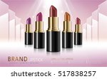 makeup ads template  colorful... | Shutterstock .eps vector #517838257