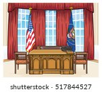 the oval office of the... | Shutterstock .eps vector #517844527