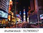 new york city  usa   october 17 ... | Shutterstock . vector #517850017