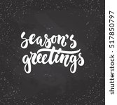 Season's Greetings   Lettering...