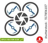 shutter drone eps vector icon.... | Shutterstock .eps vector #517856107