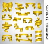 ribbon icons set   vector... | Shutterstock .eps vector #517866997
