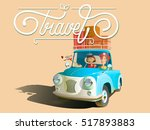 travel isolated on white... | Shutterstock .eps vector #517893883