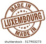 made in luxembourg. stamp. | Shutterstock .eps vector #517903273