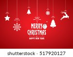 christmas card illustration | Shutterstock .eps vector #517920127