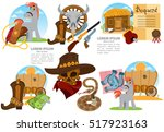 set of of illustrations on the... | Shutterstock .eps vector #517923163