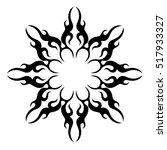 tattoo tribal vector design...   Shutterstock .eps vector #517933327