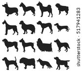 collection of dogs silhouette | Shutterstock .eps vector #517941283