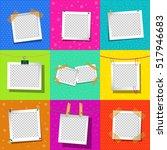 set square vector frames for... | Shutterstock .eps vector #517946683