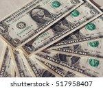 dollar  usd  banknotes ... | Shutterstock . vector #517958407