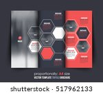 hexagon elements a4 document... | Shutterstock .eps vector #517962133