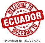 welcome to ecuador. stamp. | Shutterstock .eps vector #517967143