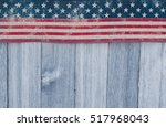 usa patriotic old flag on a... | Shutterstock . vector #517968043