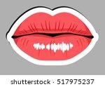 sticker beautiful  sensual... | Shutterstock .eps vector #517975237