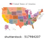 usa map | Shutterstock .eps vector #517984207
