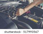 car service  fitting a car... | Shutterstock . vector #517993567