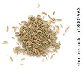 fennel dry seeds isolated on... | Shutterstock . vector #518002963