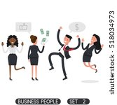 business people set 2. flat...   Shutterstock .eps vector #518034973