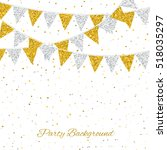 party background with flags....   Shutterstock .eps vector #518035297