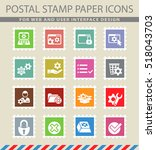 settings web icons on the... | Shutterstock .eps vector #518043703