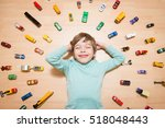 adorable boy lying on the... | Shutterstock . vector #518048443