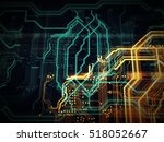 pcb  code  html  web... | Shutterstock . vector #518052667
