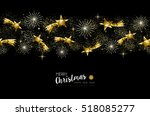 merry christmas happy new year... | Shutterstock . vector #518085277
