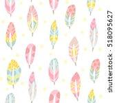 vector seamless pattern of... | Shutterstock .eps vector #518095627