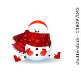 Christmas  Cute Snowman With...
