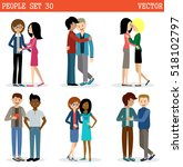 gays and lesbian couple. lgbt.... | Shutterstock .eps vector #518102797