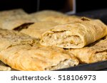 puff pastry strudel with apple... | Shutterstock . vector #518106973