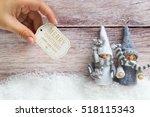 christmas elf figures on... | Shutterstock . vector #518115343