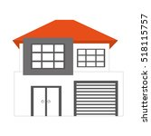exterior house isolated icon...   Shutterstock .eps vector #518115757