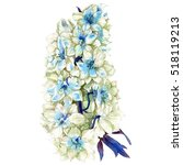 watercolor hand painted summer... | Shutterstock . vector #518119213