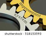 improvement system concept on... | Shutterstock . vector #518153593