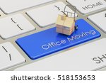office move concept on red...   Shutterstock . vector #518153653
