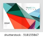 low poly triangle abstract... | Shutterstock . vector #518155867