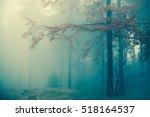 amazing bluish foggy light in... | Shutterstock . vector #518164537